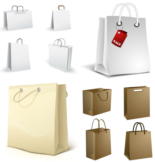 set_bolsas_papel_vector