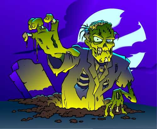 zombie en vectores